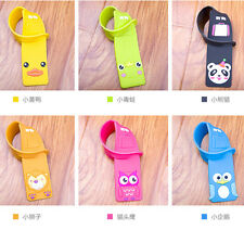 Cartoon Travel Luggage Tags Suitcase Name Address ID Bag Label Baggage Marks 1pc