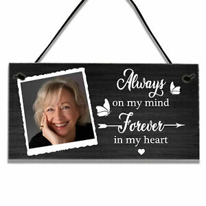 Personalised Memorial Remembrance Gifts Wall Hanging Sign In Memory Of Plaque