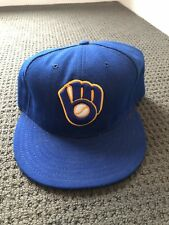 Throw Back Milwaukee Brewers Cap Size 7 1/2