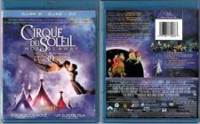 3D+2D Blu-ray+DVD CIRQUE DU SOLEIL WORLDS AWAY James Cameron 3-Disc OOP Region A