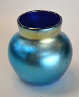 Blue Luster Small Vase. Mario Real