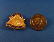 TWO Vintage Cub Scout Pins: Den Mother & Bobcat