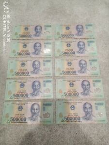 5000000 VND Five Million Vietnamese Dong (10 x 500000 notes) excellent condition