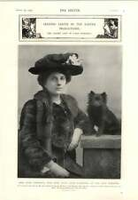 1905 Miss Lena Ashwell With Puppy Maxine Elliott Clyde Fitch Play