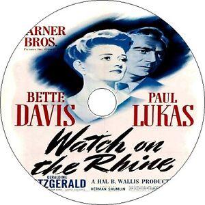 Watch on the Rhine DVD Bette Davis Paul Lukas Geraldine Fitzgerald 1943 Rare