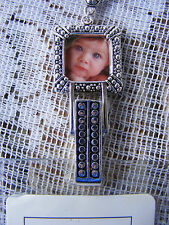 Picture Frame Photo ID Badge Name Tag Key Card Holder Necklace Mom Grandma Gift