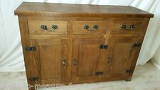 REAL SOLID WOOD SIDEBOARD DRESSER BASE CUPBOARDS DRAWER CHUNKY RUSTIC PLANK PINE