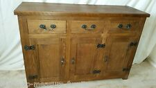 Réel bois massif buffet commode base placards tiroirs massif rustique pin extra