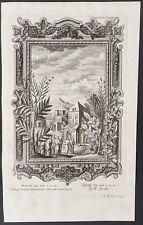 Scheuchzer - Matthew 13 - Jesus in Village. 683, 1735 Physica Sacra Engraving