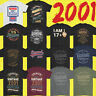 Mens Funny 18th Milestone Birthday T-Shirt 18 Year Old Gift Idea Present 2001
