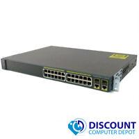 Cisco WS-C2960-24PC-L Catalyst 24-Port 10/100 Dual Gigabit Port Ethernet Switch