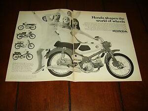 1967 HONDA 50 TRAIL 90 SCRAMBLER 160 RALLY   ***ORIGINAL 2 PAGE AD***