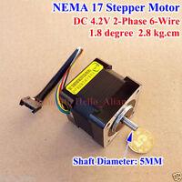 NEMA 17 1.8° 2-phase Stepper Motor for 5mm pulley RepRap Prusa 3D printer CNC