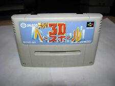 Super 3D Baseball Super Famicom SFC Japan import