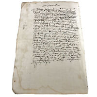 RARE Authentic Late Medieval Renaissance Manuscript Circa 1553 Latin - European