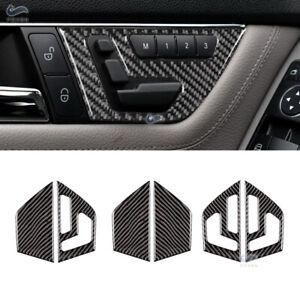 Seat Adjust Switch Button Cover Trim Carbon Fiber For Mercedes Benz C Class W204