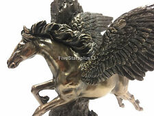 Pegasus Galloping Through Cliff Statue figurine Fantasy Flying Horse 13.5""