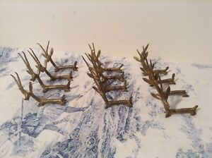 French Handcrafted Toleware Cutlery Knife Rests - Tableware (2373)