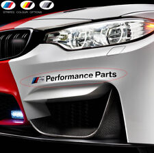 2 x For BMW M PERFORMANCE PARTS Car VINYL STICKER Bumper JDM DECAL M4 M5 M6 M3