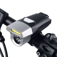 COB T6 LED Front Bicycle Bike USB Rechargeable Head Light Torch Headlight Lamp