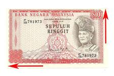 """MALAYSIA RM10 3rd Series ERROR PRINT SHIFT Prefix  F/48 781973 """"GEF"""""""