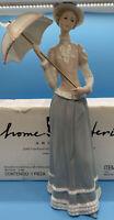 Home Interiors & Gifts #14019-01 Lady Catherine w/Umbrella Figurine HOMCO 2001