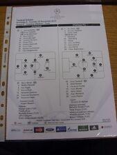 20/11/2012 COLORI teamsheet: JUVENTUS V Chelsea Champions League [] (Tactical LIN