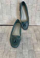 Talbots Tasseled Teal Flats Loafers 6.5B