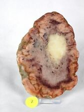 7) Large Natural Dulcote Agate Crystal Slice Coaster Gift Geode 5.3 inch - UK
