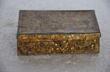 Vintage Pioneer Brand Golden Flake Cavendish Litho Tin Box, England ADV EHS