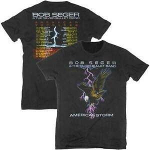 Bob Seger & The Silver Bullet Band American Storm Rock Music T Shirt BSE01003