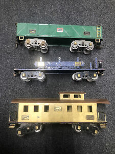 American flyer wide gauge Freight Lot Early Caboose Flat Car And Later Gondola