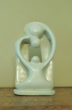 Vintage Modernist Infinity SOAPSTONE SCULPTURE Couple and Child 10.5