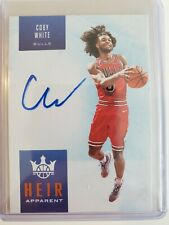 2019-20 COURT KINGS COBY WHITE HEIR APPARENT AUTO /49 RC ON CARD SIGNATURE