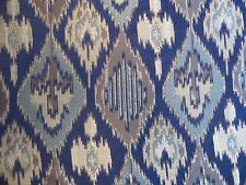 """Mill Creek """"Tonopah"""" woven ikat type upholstery material in blues, grey, taupe"""