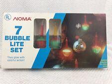 NEW Set 7 Noma Bubble Lites Vintage Christmas Lights Nostalgia