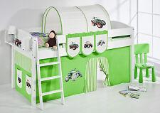 Lit mezzanine de lit Lit d'enfant 4105 enfants Lilo Tracteur vert rayures