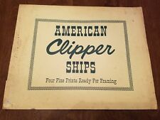 Prints of American Clipper Ships 4 Vintage J O H COSGROVE  Full Color Rare