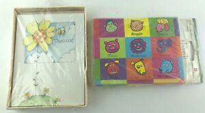 American Greetings 20 Thank You Notes Animal 2 Different Kinds DCTYN-66 GCTY-21B