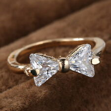 New Comming Jewellery 18K Rose Gold Filled white Sapphire Engagement Ring Size 8
