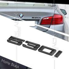 MATTE BLACK 530i REAR BOOT NUMBER EMBLEM BADGE FOR BMW E60 E61 F10 F11 5 SERIES