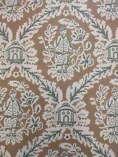 Vintage Wallpaper Chinoiserie Oriental Khaki by Motif