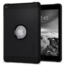"iPad 9.7"" 2018/2017 Spigen® [Tough Armor] Black Shockproof Protective TPU Case"