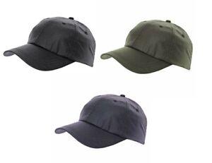 WAX BASEBALL CAP SHOWERPROOF WAXED RAIN HAT BLACK OLIVE NAVY UK SELLER