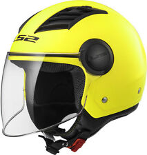 CASCO HELMET JET OF562 AIRFLOW L MATT HI-VIS YELLOW LS2 SIZE XXL