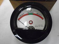 Vintage Marion Electric Hs3 Accept Reject Meter Pn 102837