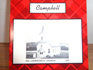 CAMPBELL SCALE MODELS HO SCALE # 359 COMMUNITY CHURCH CRAFTSMAN KIT