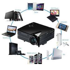 5000Lm Full 1080P HD LED Home Theater Multimedia Projector AV VGA USB HDMI Black