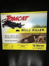 TOMCAT Mole Killer 10 WORM Shaped Baits Pest Rodent Control Scotts EASY!!!
