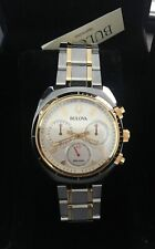 Bulova Men's Curv Collection 98A157 Quartz Watch Stainless-Steel Strap, Two Tone